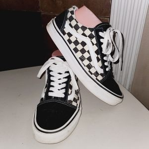 VANS Classic Suede & Canvas Skater Checkered Shoes